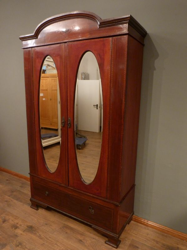 schrank564 antike schr nke antike m bel berlin englischer jugendstilschrank mahagoni um 1910. Black Bedroom Furniture Sets. Home Design Ideas